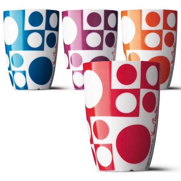 4 tasses Panton couleurs
