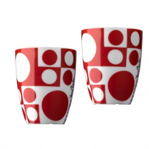 2 tasses expresso rouges 